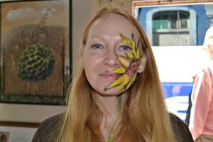 Cuban artist paints my face